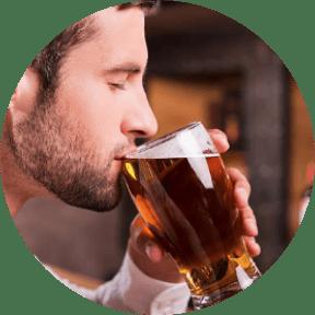 Employee drinks alcohol.